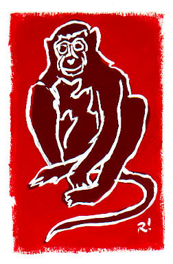 Red Monkey painting